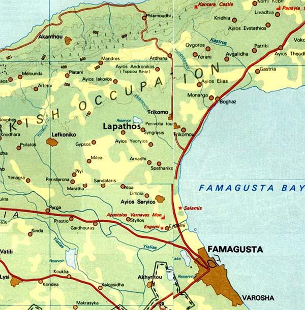 LAPATHOS - HOME PAGE - AMMOCHOSTOS DISTRICT - OCCUPIED CYPRUS
